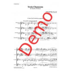<FONT><B>Claude DEBUSSY</B></FONT><br />Trois chansons - Imprimé