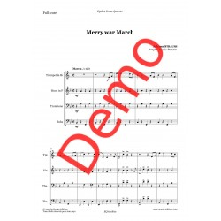 <FONT><B>Johann STRAUSS</B></FONT><br />Merry War March - Imprimé